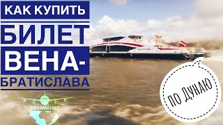 Как купить билеты на катамаран по Дунаю Twin City Liner | Вена Братислава #Авиамания