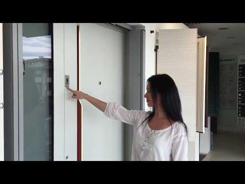 Porta con serratura electronica e apertura biometrica