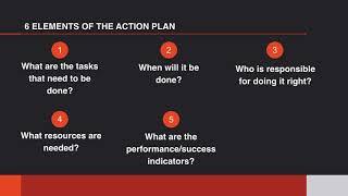Strategic Planning:  Developing an Action Plan