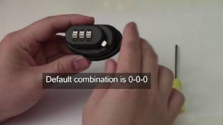 How to Set New Combination (Master Lock 94 DSPT Gun Trigger Lock)