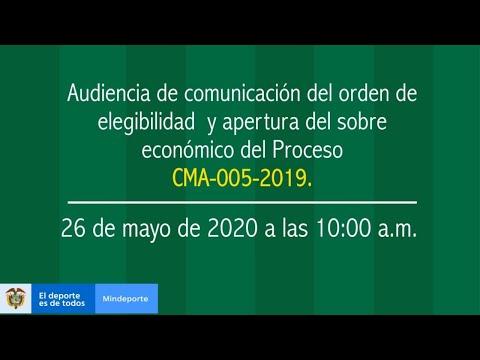 Audiencia CMA-005-2019