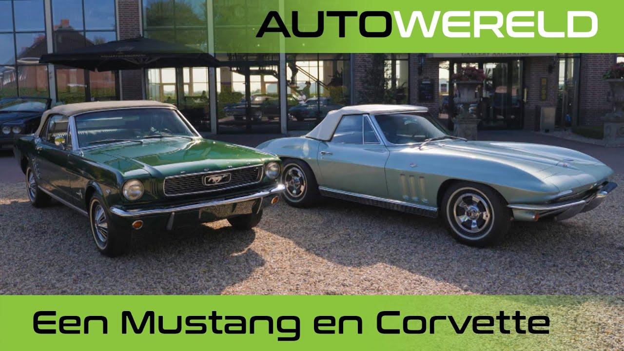 Een Ford Mustang en een Chevrolet Corvette | Nico Aaldering