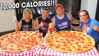 10,000 Calorie Pepperoni Pizza Challenge vs Raina and Joel Hansen!!