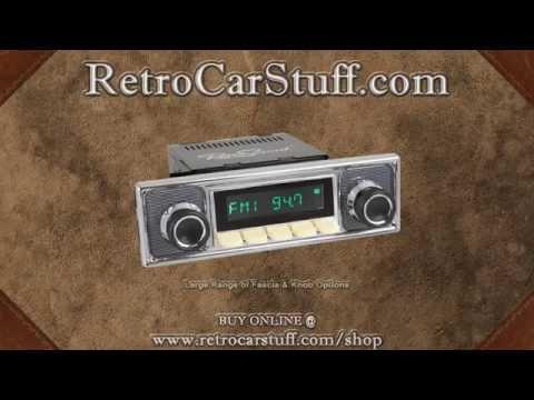 Classic Retro Style Spindle Radio Demo AUX USB and Bluetooth Retrosound Model 2