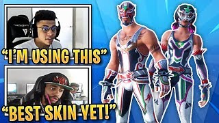STREAMERS REACT TO *NEW* MASKED FURY & DYNAMO SKINS! | Fortnite Best Moments #88