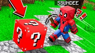 ALL OUT CHAOS! *Spider-Man* Lucky Blocks! in Minecraft!
