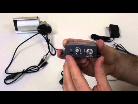 How to Install Active Video Baluns with CAT5 for CCTV