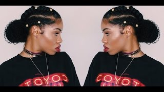 Flat Twisted Bun | Protective Style w/ Her Given Hair