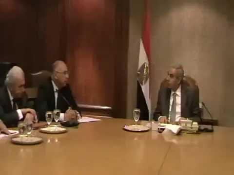 الوزير/طارق قابيل يجتمع بالجانب المصرى بمجلس الاعمال المصرى الايطالى المشترك