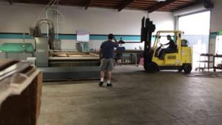 Heavy lifting at the waterjet shop