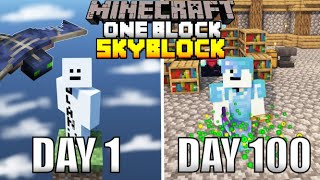 I Spent 100 Days In One Block Minecraft And Here's What Happened...