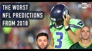 2018 NFL Predictions Gone Wrong