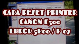 How to Reset CANON PIXMA E510 ( Error E08 ) - Самые лучшие видео