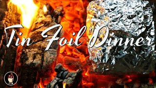 Tin Foil Steak Packet On Campfire | Campfire Dinner | Camping Recipe