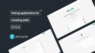 WeVote - Voting Application Template Video Presentation by Zeroqode