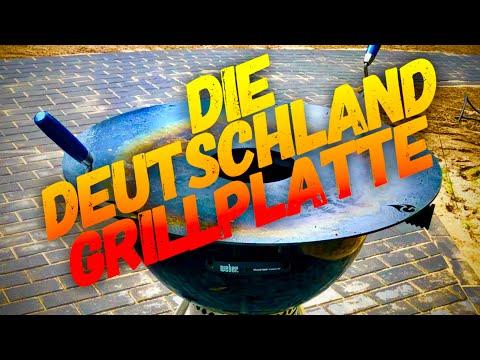 """80 cm XXL Grillplatte für Kugelgrills - """"Die Deutschlandplatte"""" im TEST ---  Klaus grillt"""