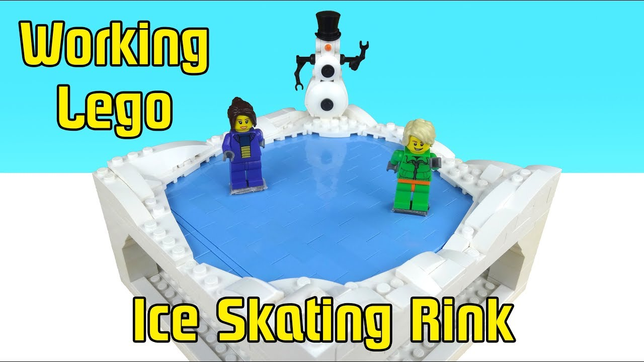 Working Lego Ice Skating Rink - Moving Minifigures!
