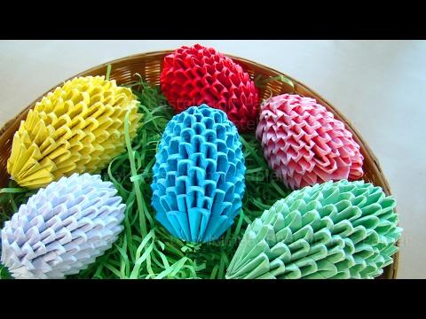 Origami Ostereier selber basteln Ostern - Osterbasteln mit Papier - Ostergeschenke - DIY Osterdeko