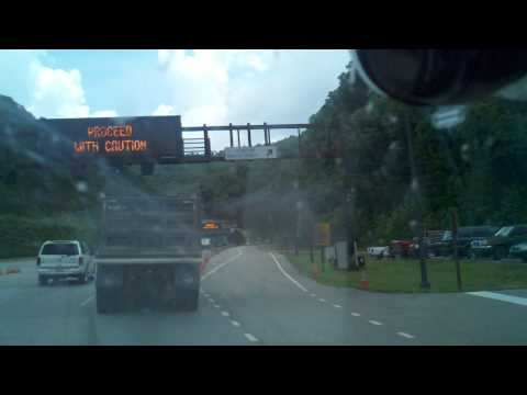 The Cumberland Gap Tunnel on the dash cam