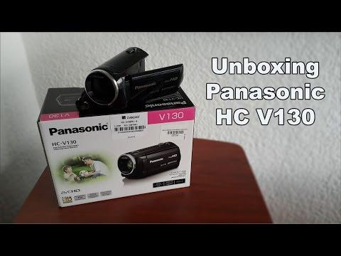 Unboxing + Review Videocamara Panasonic HC V130 / Español