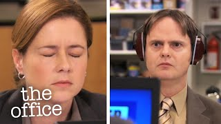 """Season 6, Episode 24 """"The Cover-Up"""" - Michael thinks his girlfriend is cheating on him and asks Dwight to investigate; Andy becomes frustrated when no one takes his customer's complaint seriously.  Watch The Office US on Google Play: http://bit.ly/2xYQkLD & iTunes http://apple.co/2eW0rcK Subscribe: http://bit.ly/2y5VK8N  This is the official YouTube channel for The Office US. Home to all of the official clips from the series, the funniest moments, pranks and fails.  Think we should feature your favourite episode? Let us know in the comments!   FB : https://www.facebook.com/theofficenbc Twitter : https://twitter.com/theofficenbc Website : http://www.nbc.com/the-office  #TheOffice #USA #nbc"""