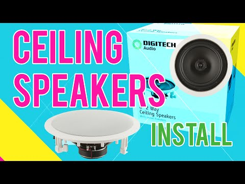 How to install Ceiling Speakers for Home Theatre