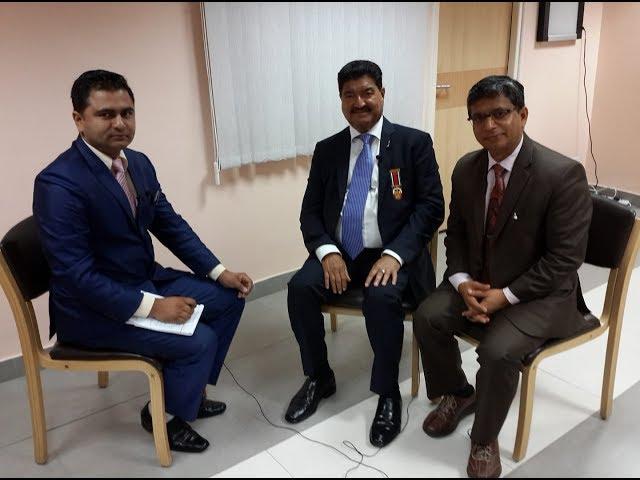 Billionaire DR B R Shetty on BTV Bishesh with BTV CEO Shambhu Pokharel
