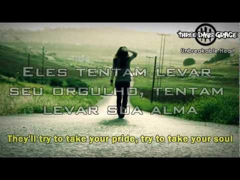Three Days Grace - Unbreakable Heart (Legendado / Lyrics) [HD]
