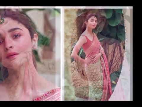 शादी की खबरों के बीच साड़ी में आलिया का लुक वायरल, फैंस बोले  रणबीर के प्यार का असर