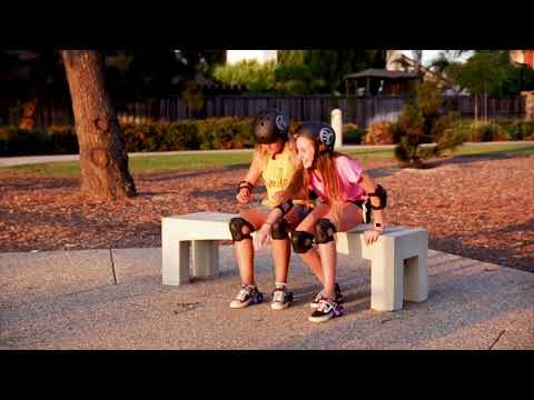 Youtube Video for Pink Classic Easy Rollerz Heel Skates - Light Up