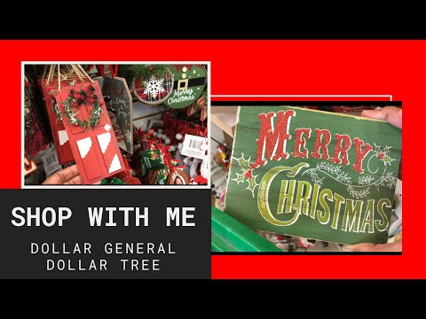 Christmas Shop With Me 🎄Dollar Tree Dollar General Spilling Tea on Christmas & Cookies