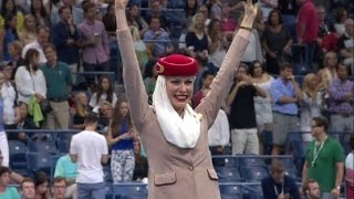 Cabin crew take centre stage at the US Open | Tennis | Emirates Airline