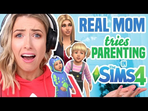 REAL MOM Tries Parenting Challenge in THE SIMS 4