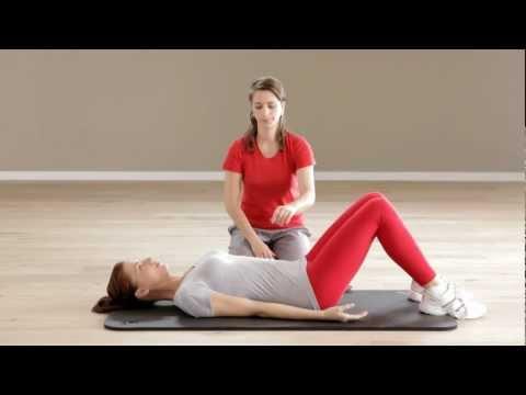Die Öbung auf die Spannstange des Halses bei der Osteochondrose