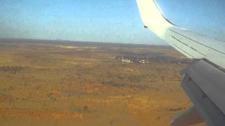 Landing at Ayers Rock Connellan Airport (AYQ) NT Australia