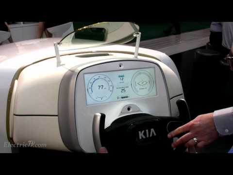 Kia Cars HMD, heads-up dashboard display tech demo @ CES 2012
