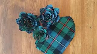 DIY Tartan Fabric Flowers