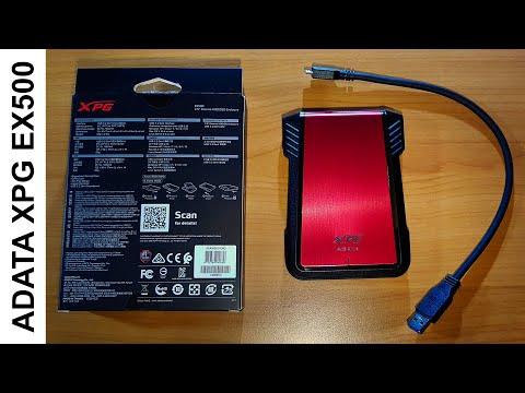 Rack HDD/SSD ADATA XPG EX500 2.5 inch USB 3.1 Red
