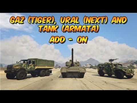 "Gaz""Tiger"",Ural""Next"",Tank""Armata"" Pack [Add-On]"