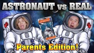 ASTRONAUT VS. REAL FOOD CHALLENGE!!! Parents Edition Taste Test!