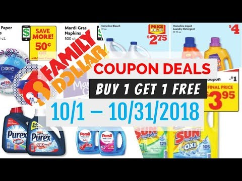 family dollar coupon deals october 1 31 2018 - Family Dollar Open On Christmas
