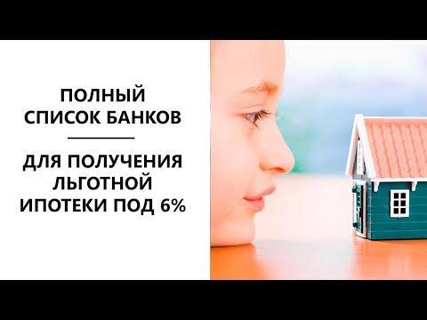 Полный список банков для льготной ипотеки 6% - дополнение моего видео