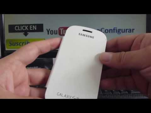 Carcasa Samsung Galaxy s3 mini i8190 Funda Flip Case Cover dura con goma
