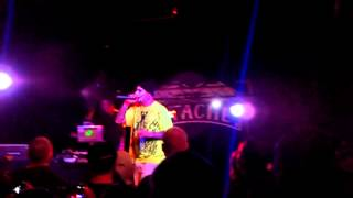 Krak Rock at the Prozak show on 01-19-13 rapping his song Fuck off (Eat shit and Die)