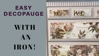 How To Decoupage Using An Iron