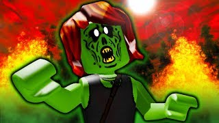 He Cured His Zombie Girlfriend! A Sad Roblox Zombie Outbreak Movie