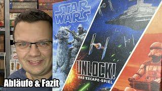 Unlock - Star Wars (Space Cowboys / asmodee) - Abläufe und Fazit - ab 10 Jahren
