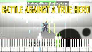 Battle Against a True Hero (Lyrical Adaptation) OST Glitchtale:Do or Die [Synthesia Piano Tutorial]