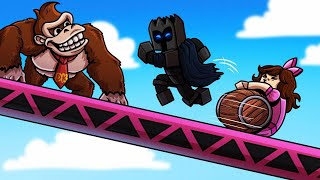 Minecraft: DONKEY KONG (SURVIVE THE BARRELS!) Modded Mini-Game