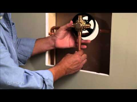 Installing a 1-Handle Posi-Temp Shower Valve: Copper to Copper